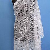 Аксессуары handmade. Livemaster - original item 222 Orenburg downy tippet fishnet white accessories shawl. Handmade.