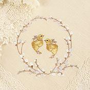 Для дома и интерьера handmade. Livemaster - original item Easter napkin with embroidered