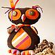 Игрушки животные, ручной работы. Авторская текстильная кукла – Сова «ФАВА». Евгения Лобек (elobek). Интернет-магазин Ярмарка Мастеров.