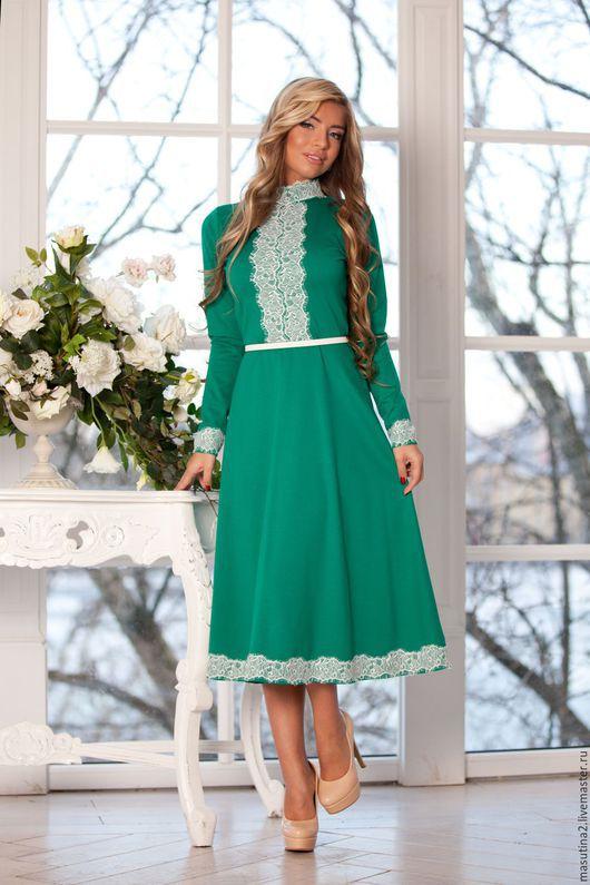 """Платья ручной работы. Ярмарка Мастеров - ручная работа. Купить Платье """"Изумрудный город"""". Handmade. Зеленый, нарядное платье"""