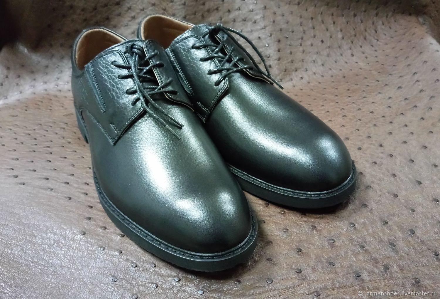 Classic men's shoes, genuine leather, handmade, Shoes, Tosno,  Фото №1