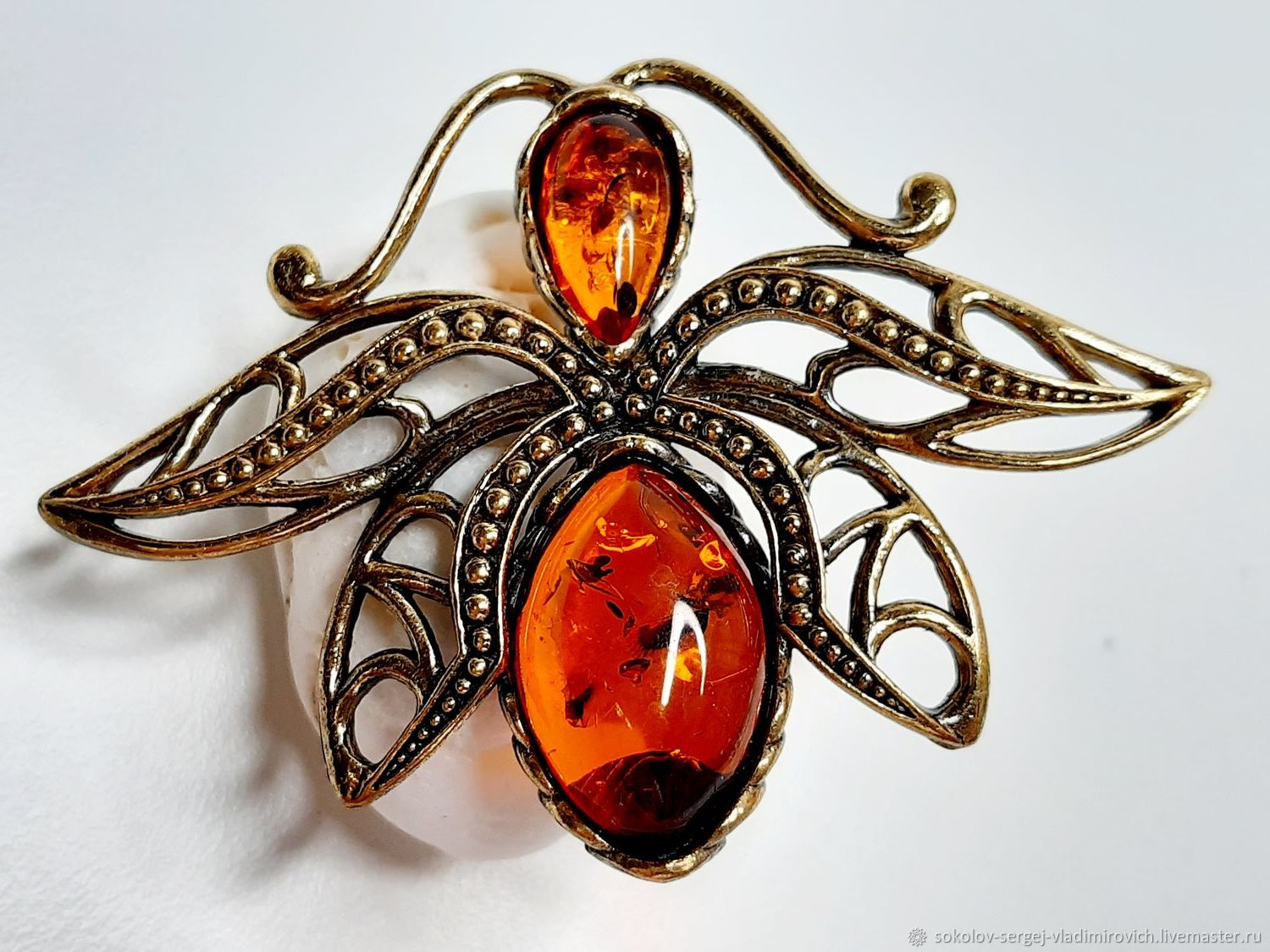 Brooch Moth Light, Brooches, Moscow,  Фото №1