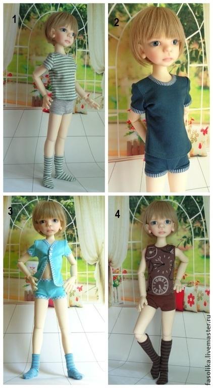 Комплекты белья для куклы БЖД - мальчика. Модель - Морис от Кайе Виггз.