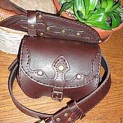 Субкультуры ручной работы. Ярмарка Мастеров - ручная работа комплект сумка поясная пояс ножны. Handmade.
