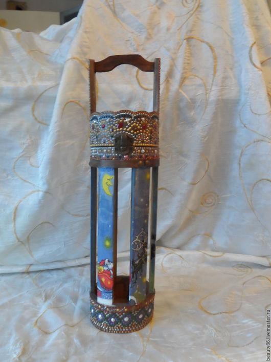 Праздничная атрибутика ручной работы. Ярмарка Мастеров - ручная работа. Купить шкатулка-короб для бутылки. Handmade. Комбинированный, подарок
