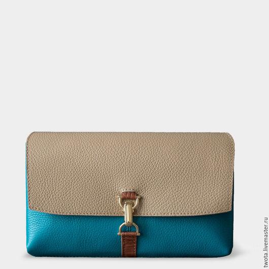 Женские сумки ручной работы. Ярмарка Мастеров - ручная работа. Купить Vesper Blue Lagoon. Handmade. Разноцветный, натуральная кожа