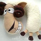 Для дома и интерьера handmade. Livemaster - original item pillow headrest lamb oscar. Handmade.