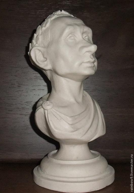 Бюст президента Путина В.В. Подарок для мужчин, статуэтка, фигурка, настольный сувенир из полимеров под гипс ,белый цвет, под серебро, золото или бронзу.