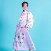 Одежда ручной работы. Ярмарка Мастеров - ручная работа Юбка с принтом «Ромео». Handmade.