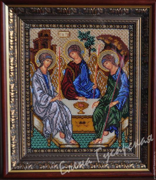 Иконы ручной работы. Ярмарка Мастеров - ручная работа. Купить Икона Святой Троицы. Handmade. Комбинированный, икона в подарок