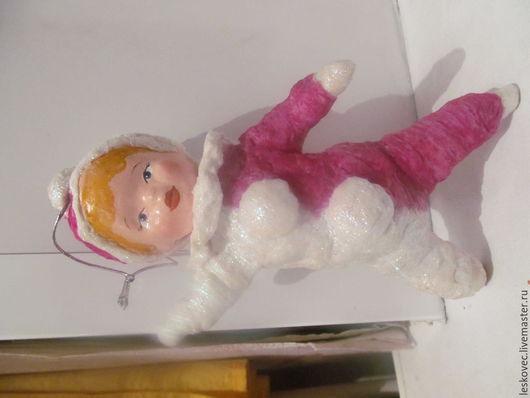 Винтажные куклы и игрушки. Ярмарка Мастеров - ручная работа. Купить Ватные игрушки. Handmade. Разноцветный, кукла елочная, акварель