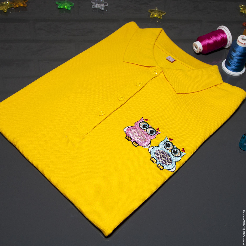 Футболка поло с вышивкой – купить в интернет-магазине на Ярмарке ... 89624292fa820