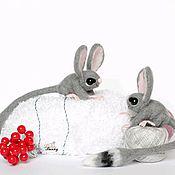 Куклы и игрушки ручной работы. Ярмарка Мастеров - ручная работа Шуршуня валяная игрушка тушканчик мышь. Handmade.
