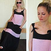 Одежда ручной работы. Ярмарка Мастеров - ручная работа Платье двухцветное,  р.44 - 52. Handmade.