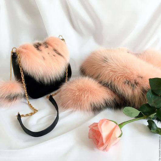 Женские сумки ручной работы. Ярмарка Мастеров - ручная работа. Купить Сумочка «Голландская роза» из кожи, замши и меха. Handmade.