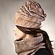 шапка бини валяная из шерсти вручную