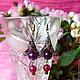 Серьги ручной работы. Ярмарка Мастеров - ручная работа. Купить Серьги Виолетта (фиолетовые цветочные сережки). Handmade. Серьги