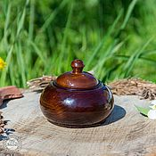 Для дома и интерьера handmade. Livemaster - original item A jug with a lid from Natural Siberian Cedar #K40. Handmade.