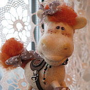 Куклы и игрушки ручной работы. Ярмарка Мастеров - ручная работа лошадка Аллочка. Handmade.