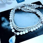 Украшения handmade. Livemaster - original item Necklace with natural adular in 925 silver. Handmade.