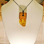 Украшения handmade. Livemaster - original item Pendant made of amber and mahogany K-622. Handmade.
