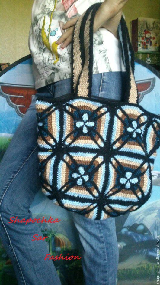 Женские сумки ручной работы. Ярмарка Мастеров - ручная работа. Купить стильная сумка, вязаная крючком. Handmade. Комбинированный