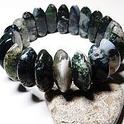Украшения handmade. Livemaster - original item Bracelet Dryad (moss agate, quartz with inclusions). Handmade.