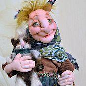 Куклы и игрушки ручной работы. Ярмарка Мастеров - ручная работа Кукла текстильная, кукла капроновая баба Яга.. Handmade.