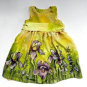 """Работы для детей, ручной работы. Ярмарка Мастеров - ручная работа Платье батик для девочки """"Ириска"""". Handmade."""
