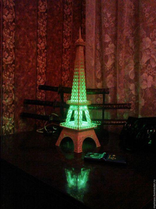Освещение ручной работы. Ярмарка Мастеров - ручная работа. Купить Эйфелева башня. Handmade. Башня, ночник, фанера