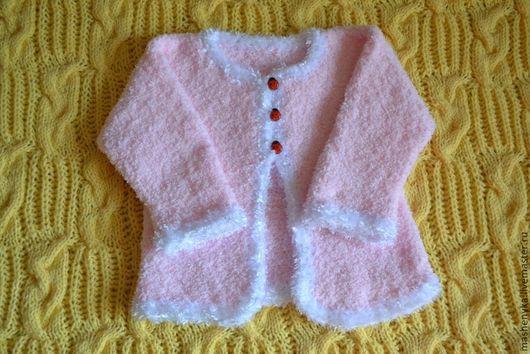 Одежда для девочек, ручной работы. Ярмарка Мастеров - ручная работа. Купить Болеро  из пушистой пряжи для маленькой модницы. Handmade. Розовый