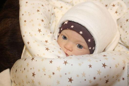 """Для новорожденных, ручной работы. Ярмарка Мастеров - ручная работа. Купить Комплект """"Звездный Мишутка 2"""". Handmade. Белый, утеплитель"""