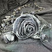 Украшения handmade. Livemaster - original item Frozen roses. Jewelry set. Necklace, earrings, brooch flower.. Handmade.