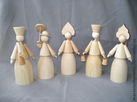 Декупаж и роспись ручной работы. Ярмарка Мастеров - ручная работа. Купить Куклы,деревянные заготовки-1. Handmade. Деревянные куклы