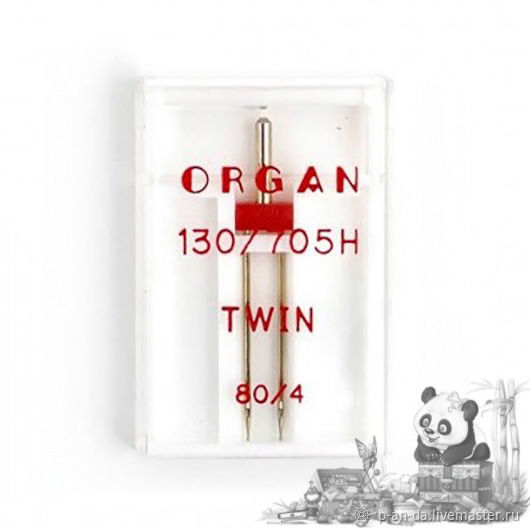 Двойная игла универсальная 80/4 Organ для швейной машины, Иглы и булавки, Москва,  Фото №1