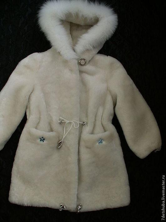 Верхняя одежда ручной работы. Ярмарка Мастеров - ручная работа. Купить детская мутоновая шуба. Handmade. Белый, детская шуба