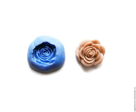 Для украшений ручной работы. Ярмарка Мастеров - ручная работа. Купить Роза (М) силиконовый молд. Handmade. Тёмно-синий
