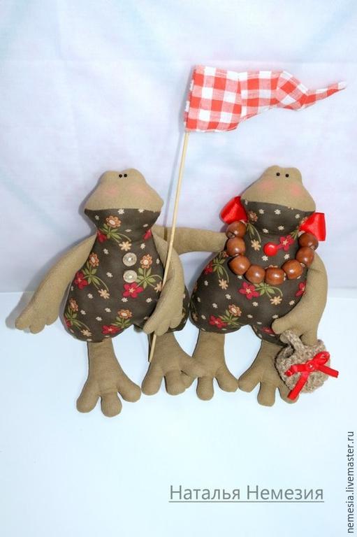 Куклы Тильды ручной работы. Ярмарка Мастеров - ручная работа. Купить Лягушки в стиле Тильда. Handmade. Разноцветный, лягушка