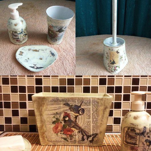 Ванная комната ручной работы. Ярмарка Мастеров - ручная работа. Купить Аксессуары для ванной в стиле Прованс / для кухни. Handmade.