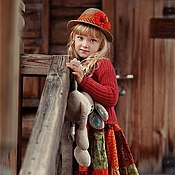 """Работы для детей, ручной работы. Ярмарка Мастеров - ручная работа Платье для девочки """"Рябина"""". Handmade."""