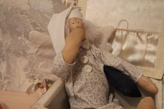 Куклы Тильды ручной работы. Ярмарка Мастеров - ручная работа. Купить Сонный Ангел Тильда. Handmade. Голубой, кукла