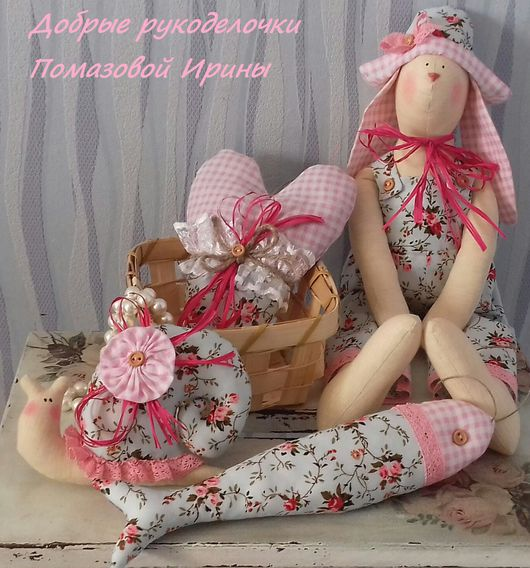 Куклы Тильды ручной работы. Ярмарка Мастеров - ручная работа. Купить Набор интерьерных украшений в стиле тильда. Handmade. Комбинированный