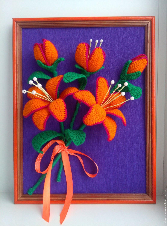 Вязание картин из цветов 570