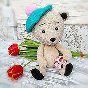 Мишки Тедди ручной работы. Ярмарка Мастеров - ручная работа Мишки Тедди: мишутка в берете. Handmade.