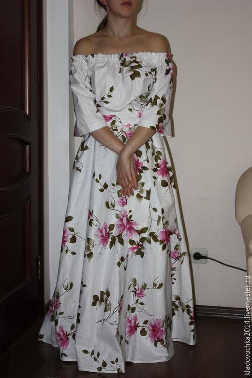 """Платья ручной работы. Ярмарка Мастеров - ручная работа. Купить Платье """"Всегда бывает весна"""". Handmade. Белый, платье на резинке"""