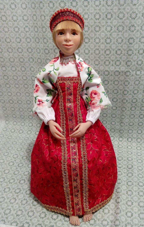 Кукла в русском сарафане, Народная кукла, Екатеринбург,  Фото №1