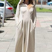 Одежда handmade. Livemaster - original item Womens jumpsuit autumn and winter, hooded Jumpsuit JP0147CK. Handmade.