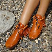 Обувь ручной работы. Ярмарка Мастеров - ручная работа Стильные кожаные ботиночки «Positive». Handmade.