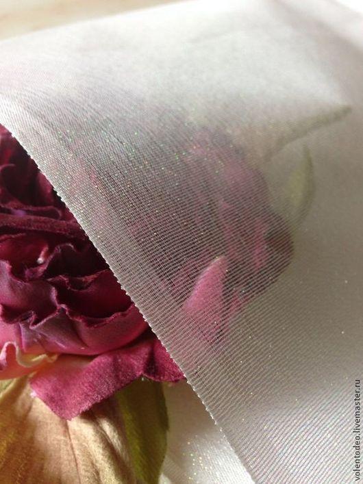 Другие виды рукоделия ручной работы. Ярмарка Мастеров - ручная работа. Купить Ткань для цветоделия- Органза( радужная). Handmade. Белый