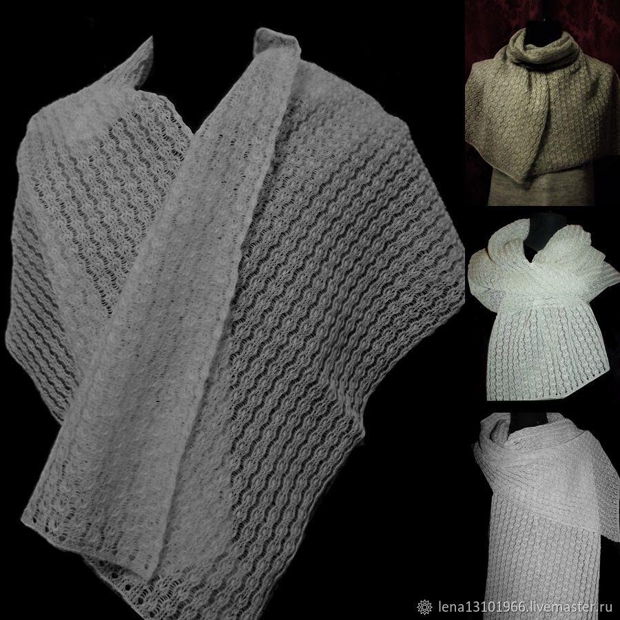 100%linen openwork scarf Linen fairy tale, Scarves, Kostroma, Фото №1